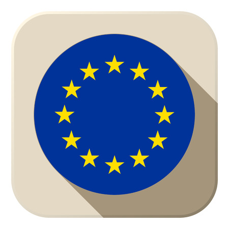 international flags: Vector - Europe Flag Button Icon Modern