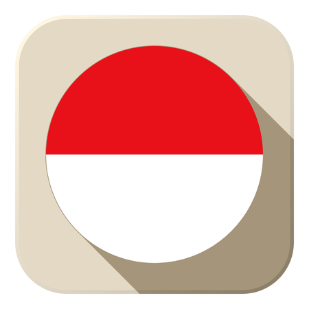 Vector - Monaco Flag Button Icon Modern Vector