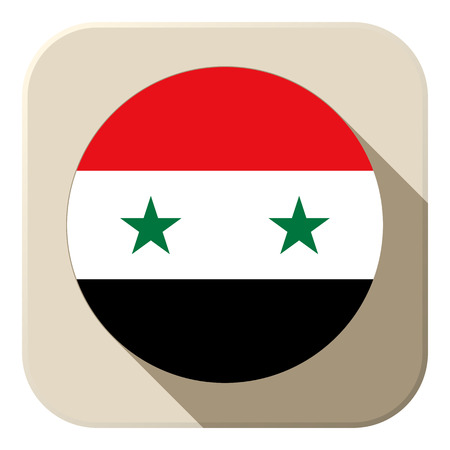 Vector - Syria Flag Button Icon Modern Vector