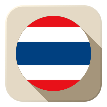 Vector - Thailand Flag Button Icon Modern Vector