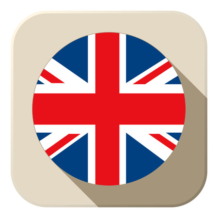 Vector - UK Flag Button Icon Modern Vector