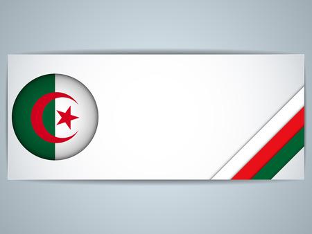 algeria: Vector - Algeria Country Set of Banners