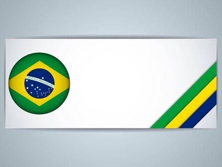 Vecteur - Set Brésil Pays de Bannières Banque d'images - 24526582