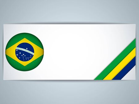 Vector - Brazil Country Set of Banners Vector