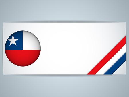 bandera chilena: Vector - Chile País Conjunto de Banners