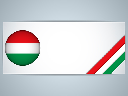 Vector - Hungary Country Set of Banners Vector