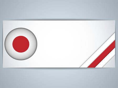 Vector - Japan Country Set of Banners Vector