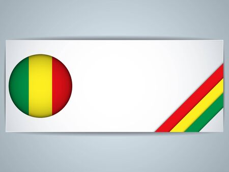 mali: Vector - Mali Country Set of Banners Illustration