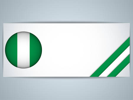 country nigeria: Vector - Nigeria Country Set of Banners Illustration