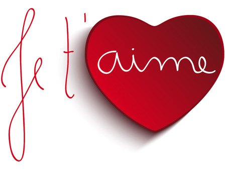 Vector - Valentine Day Je taime Heart Vector