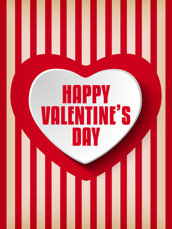 Vector - Valentine Day Heart on Retro  Background Vector