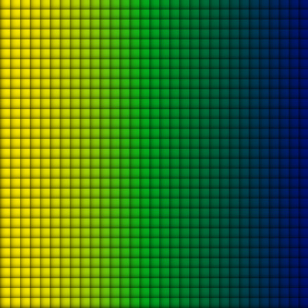 Vector - Brazil Flag Square Yellow Green Blue Background Vector