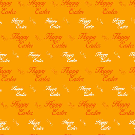 Vector - Happy Easter Letter Orange Seamless Background Vector
