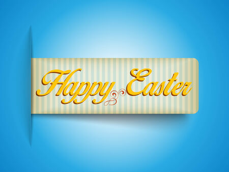 Vector - Happy Easter Banner Tag Sticker Vector