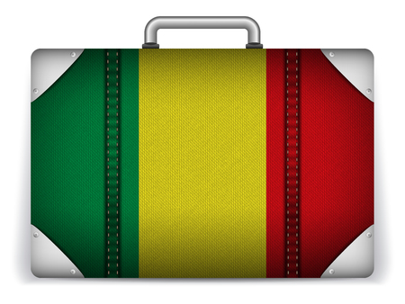 Vector - Mali Travel Luggage with Flag for Vacation Vector