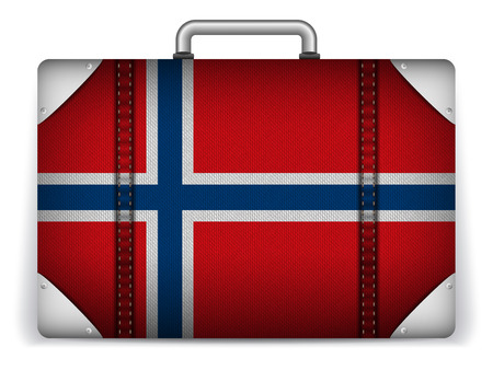 Vector - Norway Travel Luggage with Flag for Vacation Vector