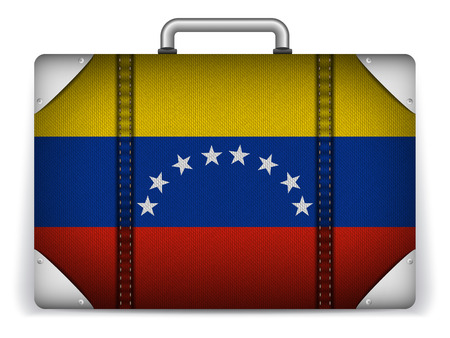 Vector - Venezuela Travel Luggage with Flag for Vacation Vector