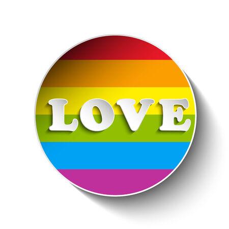 Vector - Gay Flag Circle Striped Sticker Vector