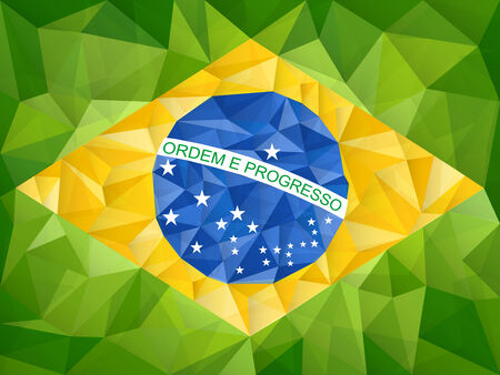 Vector - Brazil Country Flag Geometric Background Vector