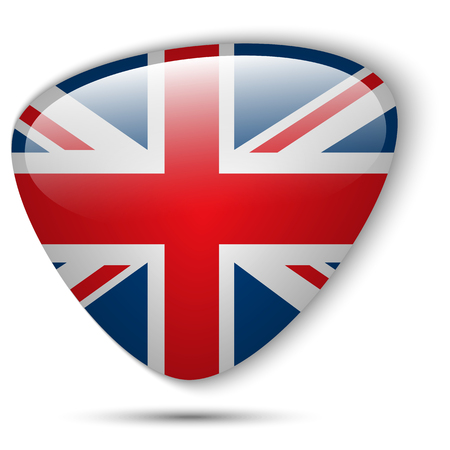 bandiera inghilterra: Vector - Flag UK Button Glossy Vettoriali