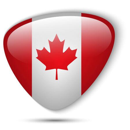 Vector - Canada Flag Glossy Button Vector