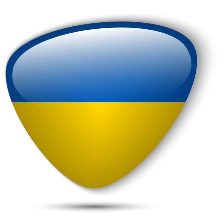 Vector - Ukraine Flag Glossy Button