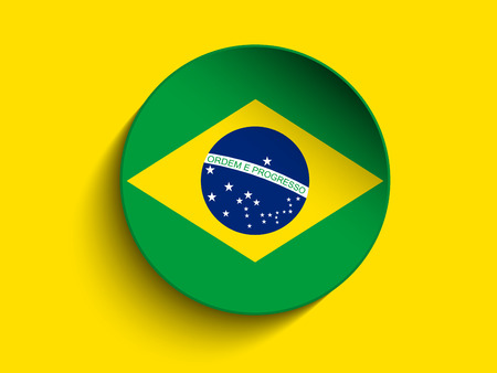 Vector - Brazil 2014 Letters with Brazilian Flag Vector