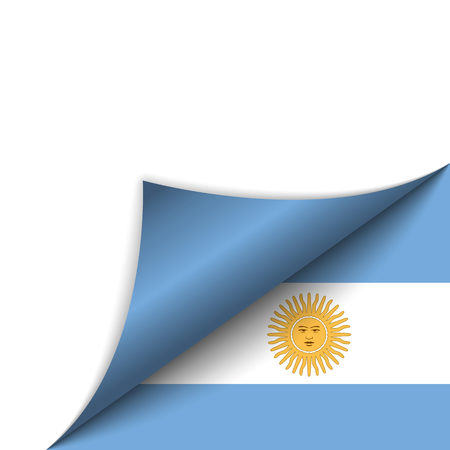 Vector - Argentina Country Flag Turning Page Vector