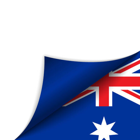 official symbol: Vector - Australia Country Flag Turning Page Illustration