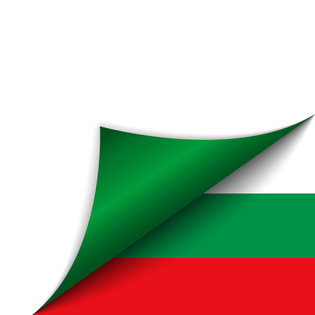 Vector - Bulgaria Country Flag Turning Page