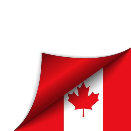 corner flag: Vector - Canada Country Flag Turning Page