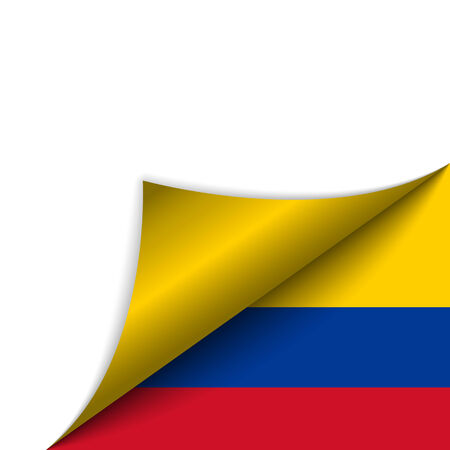 colombia flag: Vector - Colombia Country Flag Turning Page