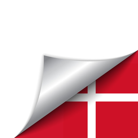 danish flag: Vector - Denmark Country Flag Turning Page