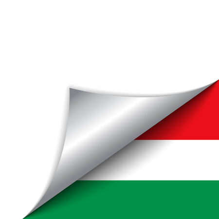Vector - Hungary Country Flag Turning Page Vector