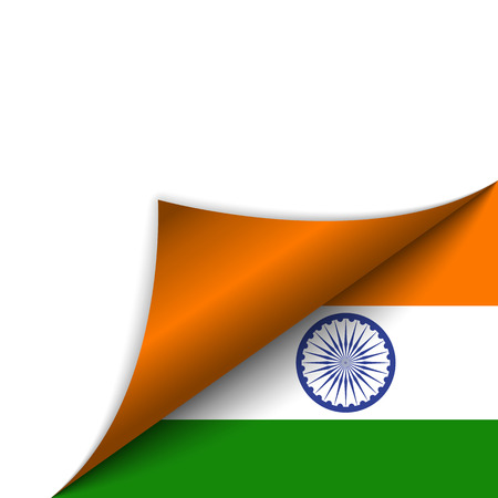official symbol: Vector - India Country Flag Turning Page
