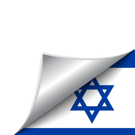 Vector - Israel Country Flag Turning Page Vector