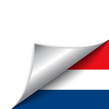 Vector - Netherlands Country Flag Turning Page Vector