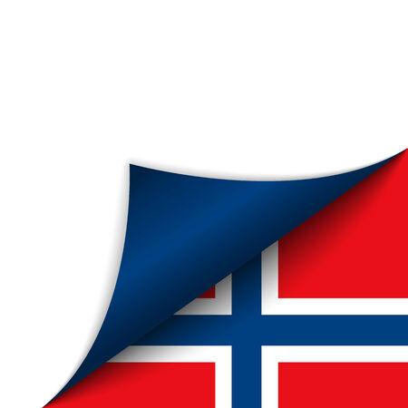 tornitura: Vector - Norvegia Paese Bandiera Girare pagina