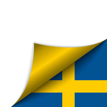 Vector - Sweden Country Flag Turning Page