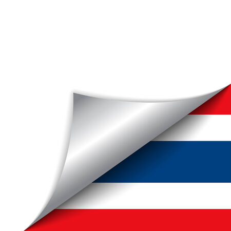 thailand symbol: Vector - Thailand Country Flag Turning Page