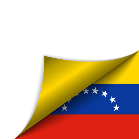 Vector - Venezuela Country Flag Turning Page Vector