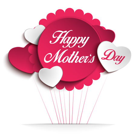 present day: Vector - Happy Mother Day Heart Background