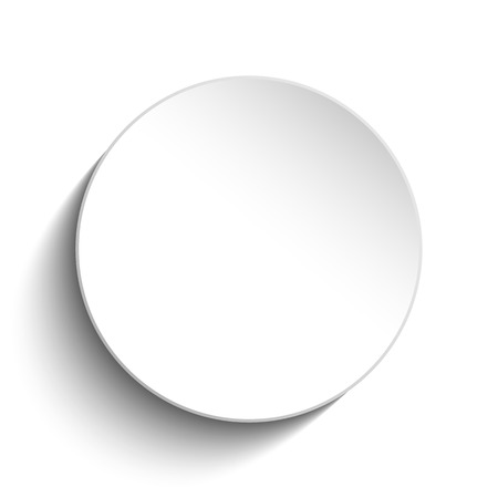 Vector - White Circle Button on White Background Vector