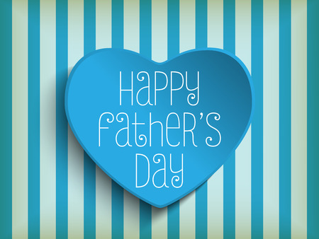 day valentine: Vector - Happy Fathers Day Blue Heart Background