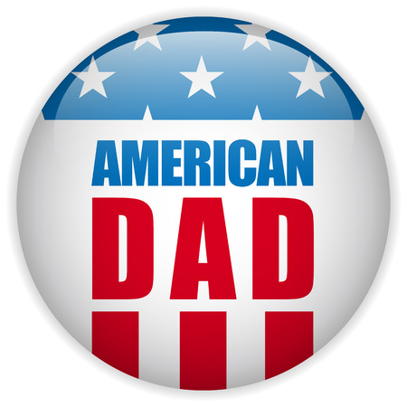 Vector - Happy Fathers Day USA American Dad Vector