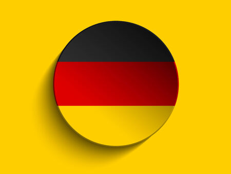 Vector - Flag Paper Circle Shadow Button Germany Vector