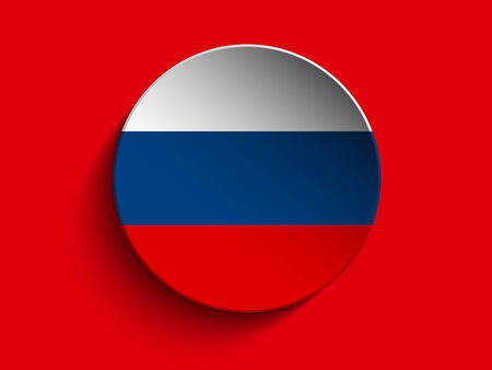 Vector - Flag Paper Circle Shadow Button Russia Illustration
