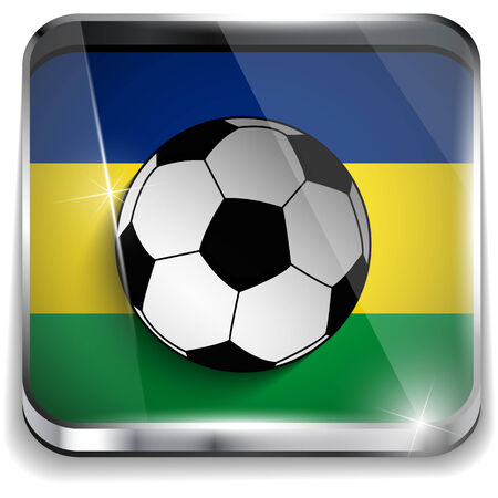 world cup: Vector - Brazil Flag with Soccer Ball Background Illustration