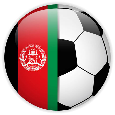 red sphere: Vector - Afghanistan Flag with Soccer Ball Background