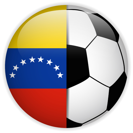 Vector - Venezuela Flag with Soccer Ball Background Vector